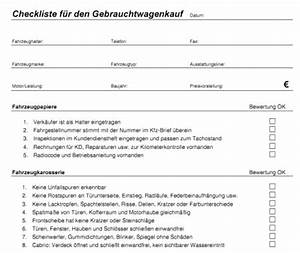Checkliste Hausbesichtigung Ausdrucken : checkliste f r den gebrauchtwagenkauf zum ausdrucken ~ Lizthompson.info Haus und Dekorationen