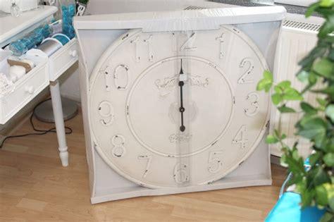 Xxl Große Uhr Wanduhr Banhofsuhr Antik Weiß Creme Landhaus