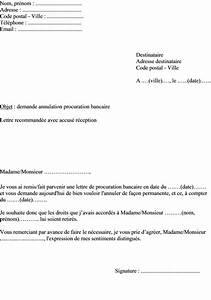Lettre Declaration Sinistre : mod le de lettre annulation ou de r siliation de procuration ~ Gottalentnigeria.com Avis de Voitures