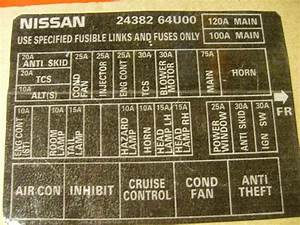 Nissan X Trail 2008 Fuse Box Diagram