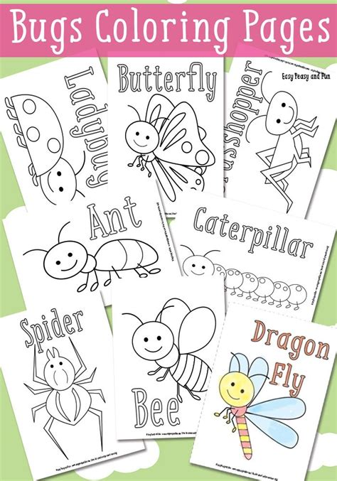 bugs coloring pages for easy peasy easy and