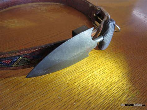 covert horizontal belt sheath  cold steel fgx push