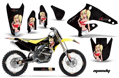 suzuki motocross graphics kit suzuki mx graphics sticker kit for suzuki rmz 250 2004 2006