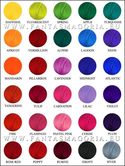 Hair Chart Colors by Best 25 Hair Color Charts Ideas On