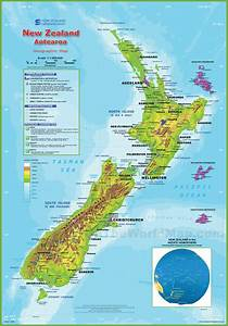 Geography Blog  New Zealand Physical Map