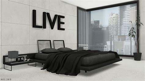 Stylish Modern Bedroom • Bed without blanket animation