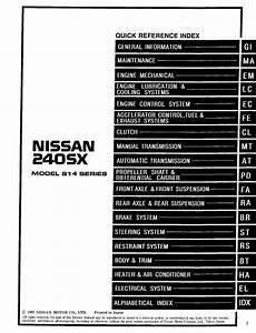 Nissan 240sx Model S14 1998 Series Service Manual