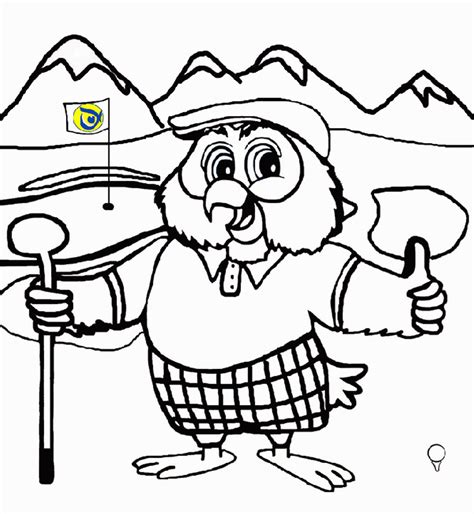 golf coloring pages birthday printable