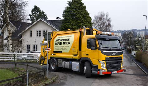 volvo group trucks technology volvo group testing self driving urban refuse truck ev