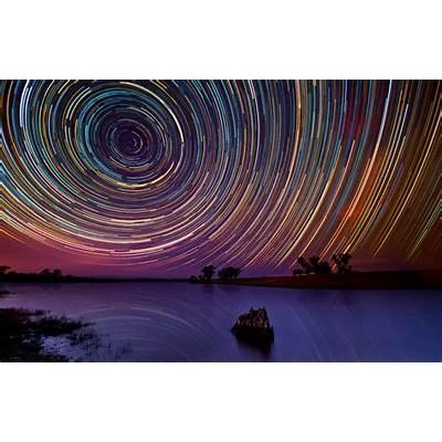 Star trails over the Australian OutbackShelby White