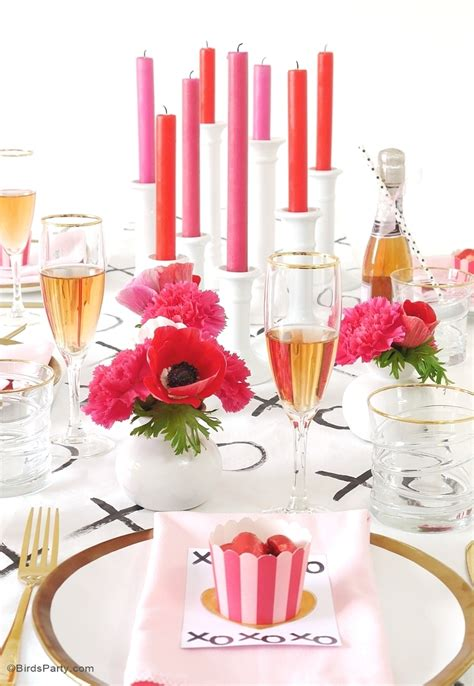 A Modern Valentine's Day Dinner Party  Party Ideas
