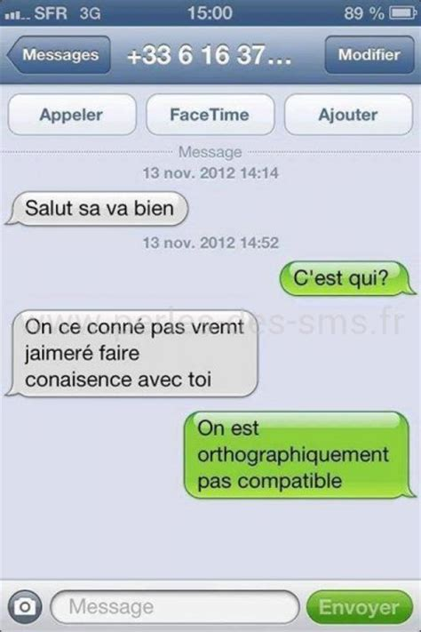 l orthographe perles des sms