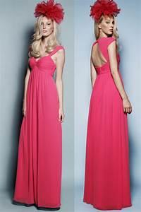Robe Pour Mariage Chic : chic robe longue fuchsia pour mariage bustier c ur empire ~ Preciouscoupons.com Idées de Décoration