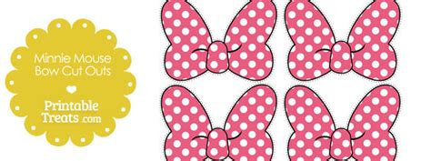 Pink Minnie Mouse Bow Cut Outs