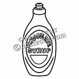 Syrup Chocolate Clip Clipart Template Coloring Pages 20clipart Abcteach Bw sketch template