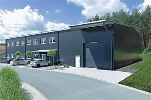 Haus Mit Büroanbau : produktionshalle mit integriertem b roanbau und lager lagerzelte industriehalle stahlhalle ~ Markanthonyermac.com Haus und Dekorationen