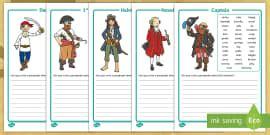 pirate writing frames writing frame frame