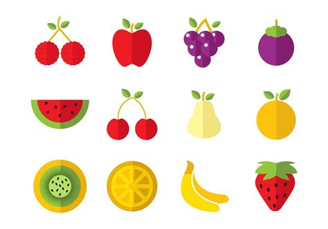 fruits icons vector download free vector art stock