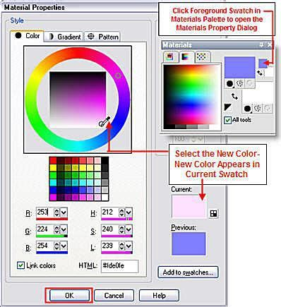 color changer tool in paint shop pro photo xi