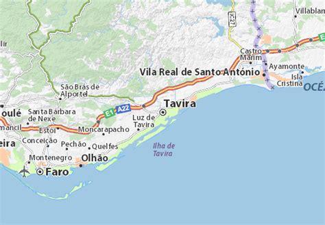 map of tavira michelin tavira map viamichelin