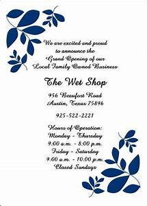 Invitation Card Format For Shop Opening