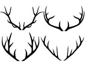 monogram cupcake toppers antler clipart antlers silhouette clipart deer by