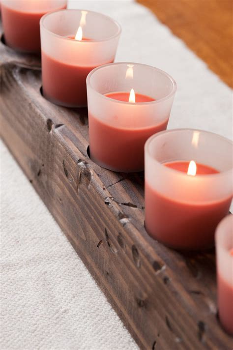 diy wooden candle centerpiece  sweetest occasion