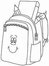 Backpack Coloring Pages Bookbag Drawing Books Smilling Sheet Paper Printable Dora Getcolorings Getcoloringpages Getdrawings Button Through sketch template