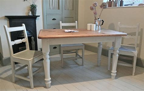 farmhouse kitchen furniture pine painted farmhouse kitchen table by distressed but not forsaken notonthehighstreet com