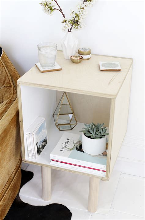 diy plywood side table  merrythought
