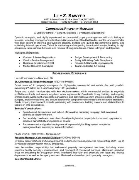 Property Manager Resume Sample Monstercom