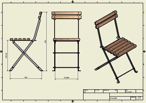 mesure d une chaise chaise metallique