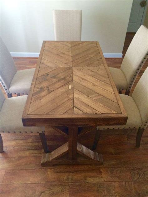 handmade 100 wood farm house table that can be used as a