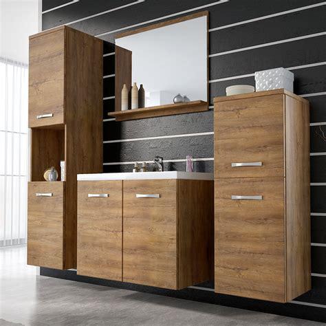 meuble de salle de bain suspendu ch 234 ne miel avec miroir et vasque maja dya shopping fr