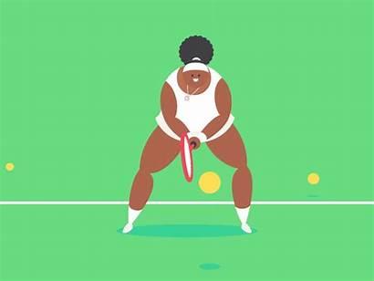 Tennis Dribbble Gifs James Curran Motion Cartoon