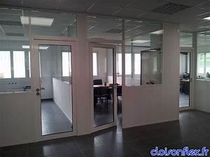 Cloison vitree aluminium menuiserie image et conseil for Porte de garage coulissante et porte vitrée intérieur bureau