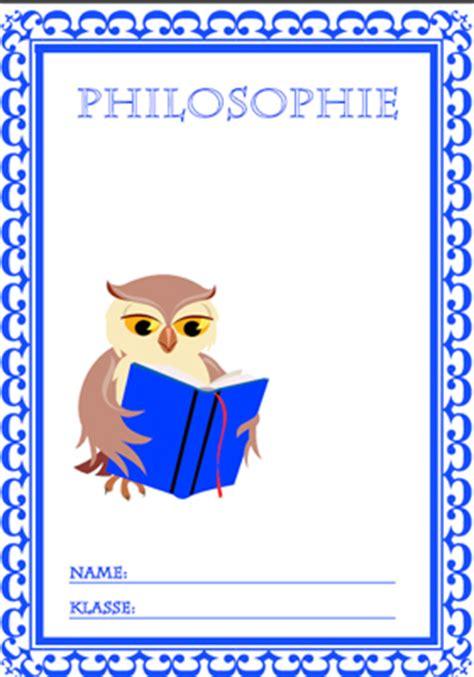deckblatt philosophie ausdrucken