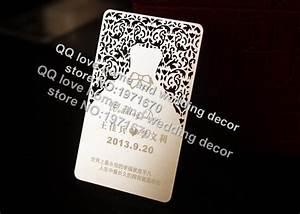 gaga silver laser cut metal wedding invitation card With laser cut metal wedding invitations