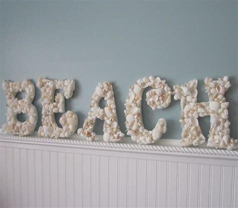 shells for decoration beach decor seashell letters nautical shell letters spell beach white shells on luulla