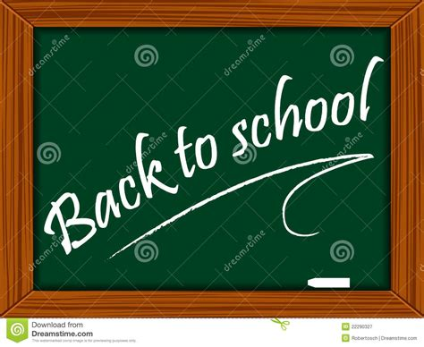 School Board With Message Stock Vector. Image Of Sign