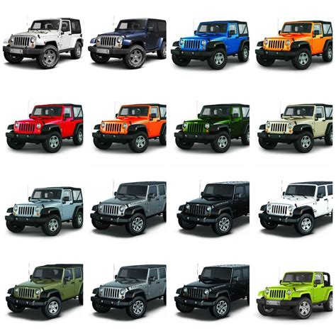 2015 jeep wrangler color chart html autos weblog