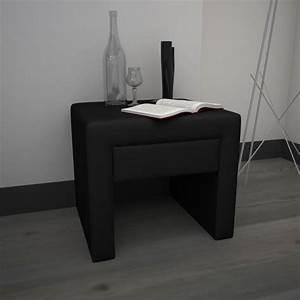 Tables De Chevet Pas Cher : table de chevet noir pas cher ~ Voncanada.com Idées de Décoration