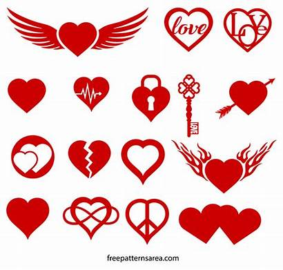 Heart Symbol Vector Silhouette Svg Freepatternsarea Vectors