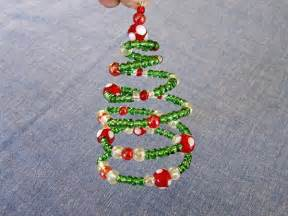 Beaded Spiral Christmas Tree Ornament