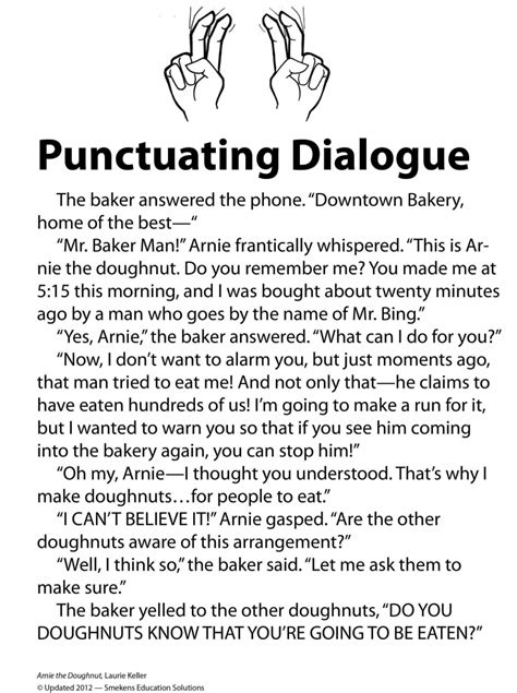 punctuate dialogue  comic strips candy hearts