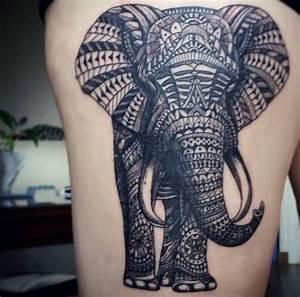 Tattoo Traumfänger Bedeutung : 30 hervorragende elefanten tattoos und ihre bedeutung ~ Frokenaadalensverden.com Haus und Dekorationen