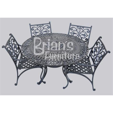 5 pc fleur de lis patio set outdoor furniture