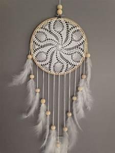 Attrape Reve Geant : attrape r ves dreamcatcher attrapeur de r ves en dentelle plumes et perles bois crochet ~ Teatrodelosmanantiales.com Idées de Décoration