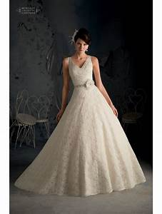 mori lee 5170 on the shoulder ivory lace wedding gown with With lace wedding dress with belt