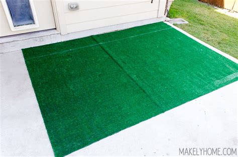 astro turf rug diy astroturf grass striped patio rug makely